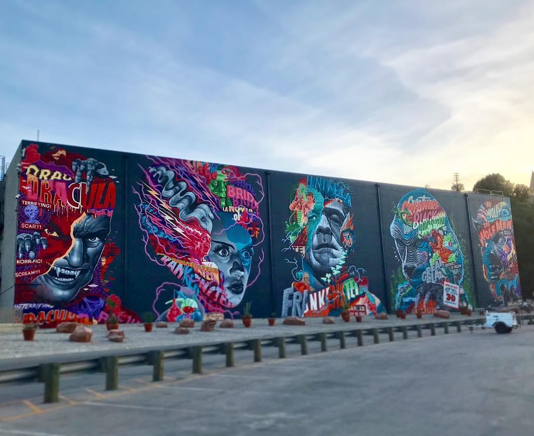 Tristan Eaton Finishes Massive Universal Monsters Mural on Universal Studios Lot