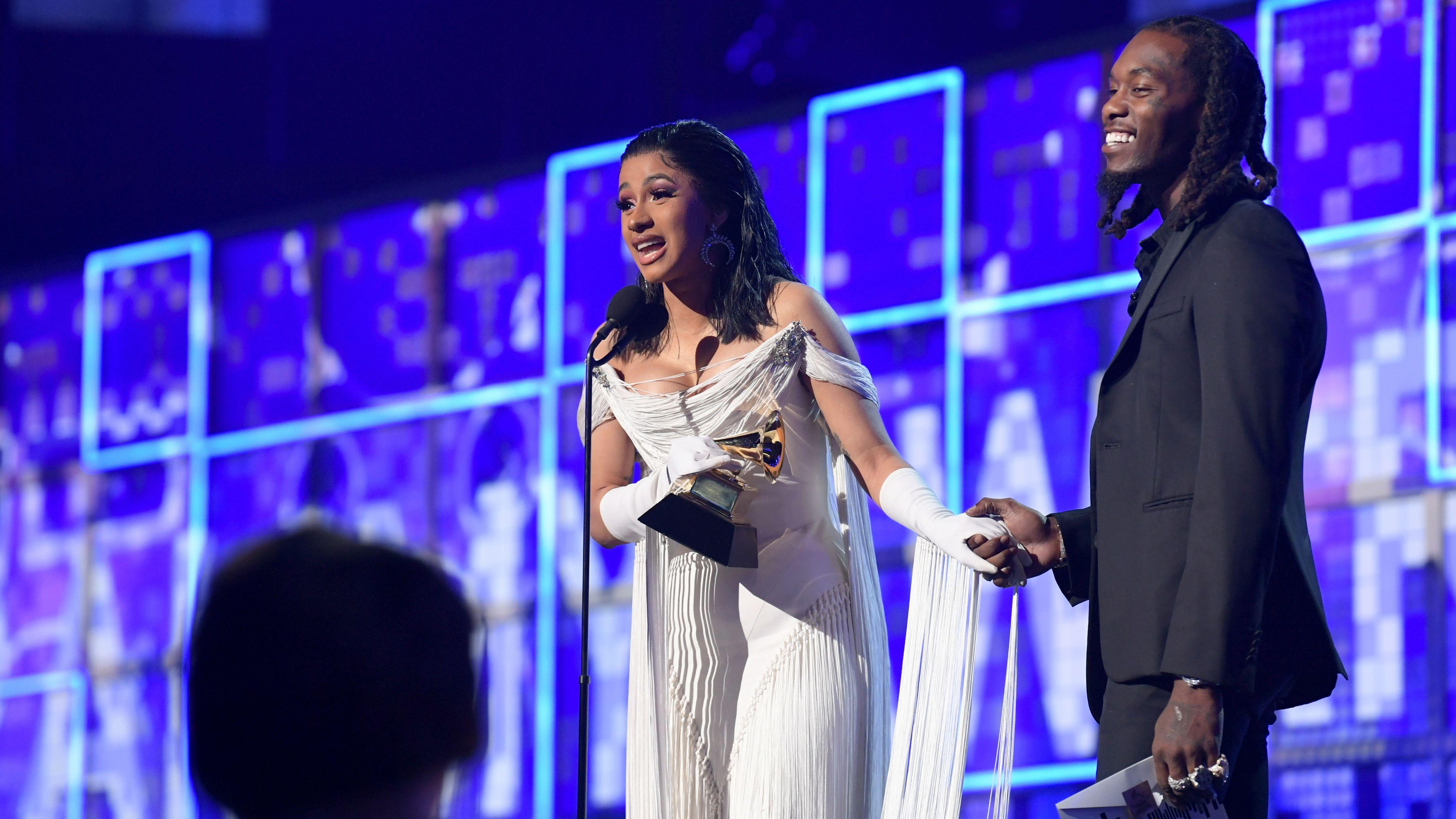 Cardi B Becomes First Solo Female to Win Rap Album of the Year Grammy