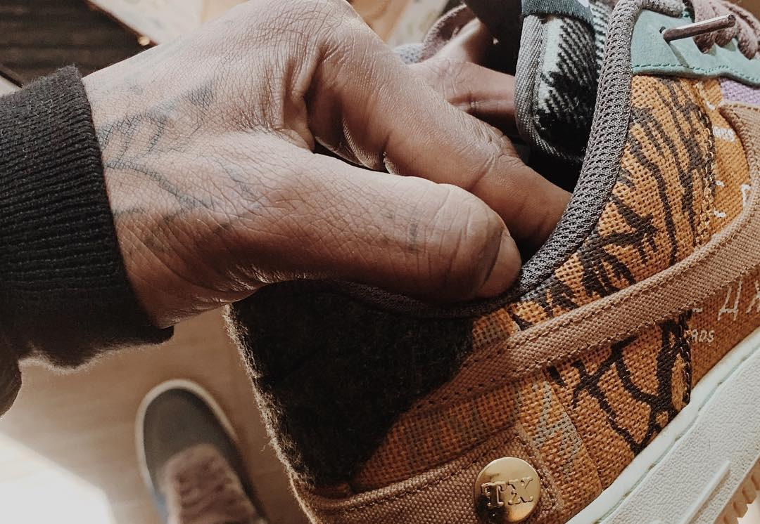 Travis Scott Teases a Potential Nike Air Force 1 Collaboration